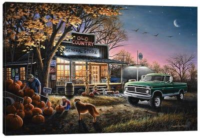The Harvest Moon Canvas Art Print