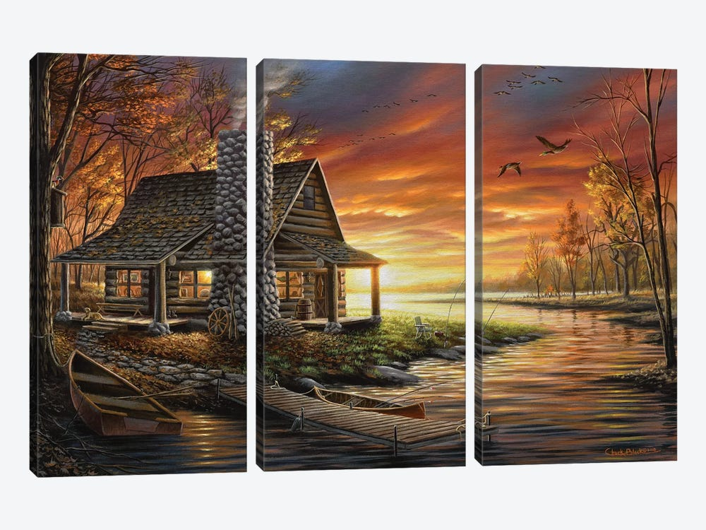 The Perfect Spot by Chuck Black 3-piece Canvas Art Print