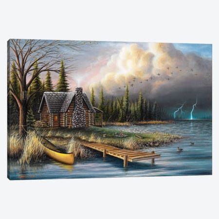 The Perfect Storm Canvas Print #CHB69} by Chuck Black Canvas Artwork