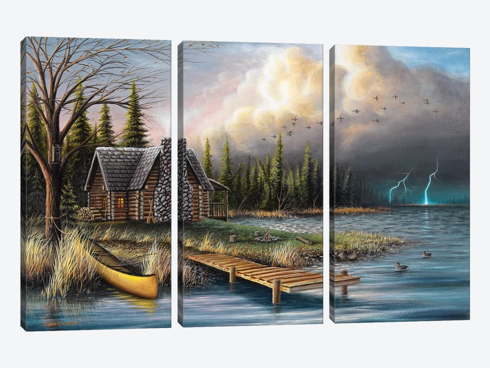 The Perfect Storm by Chuck Black 3-piece Canvas Art