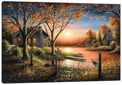 An Autumn Sunset Canvas Art Print
