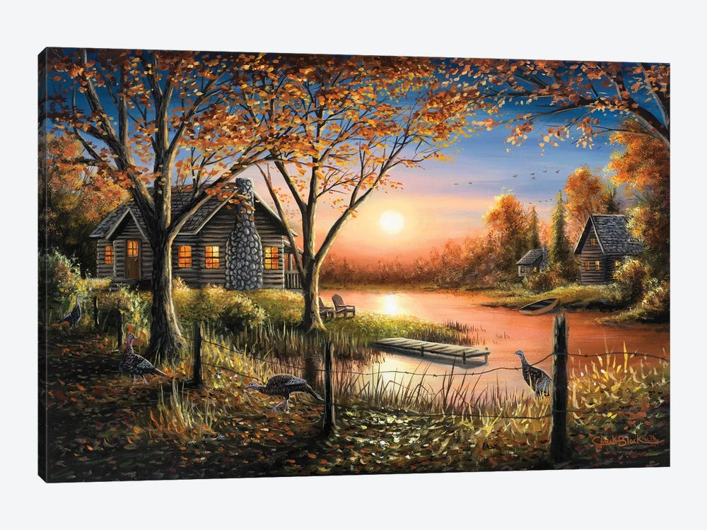 An Autumn Sunset by Chuck Black 1-piece Canvas Artwork