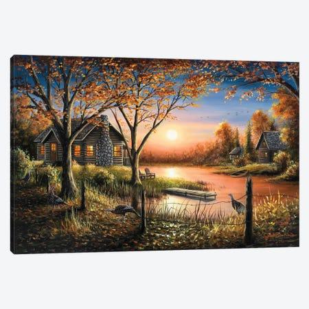 An Autumn Sunset Canvas Print #CHB6} by Chuck Black Canvas Art