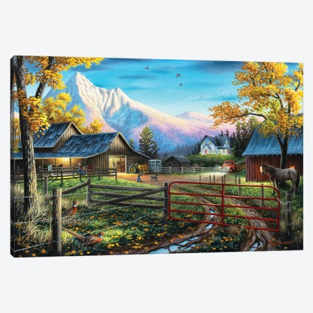 The Western Lifestyle Canvas Print #CHB72} by Chuck Black Art Print