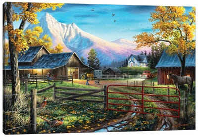 The Western Lifestyle Canvas Art Print