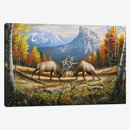 The Wild Frontier 3-Piece Canvas #CHB73} by Chuck Black Canvas Print