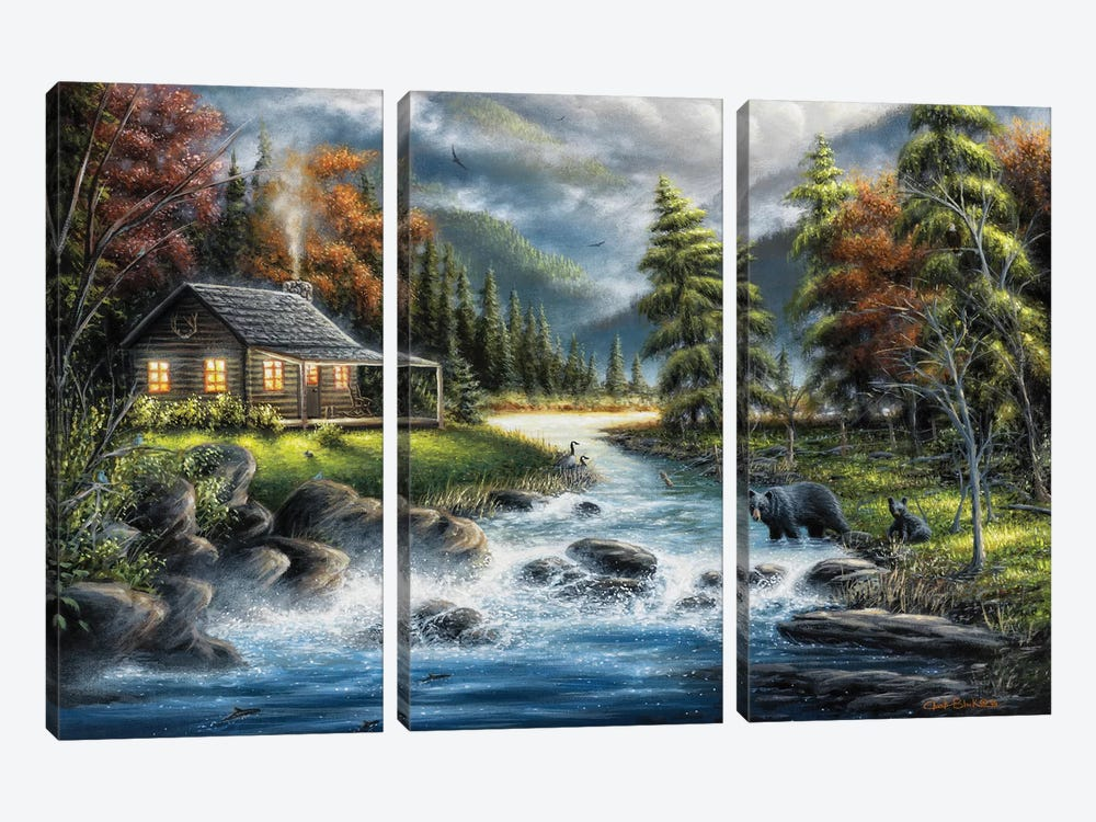 As Autumn Approaches by Chuck Black 3-piece Canvas Print