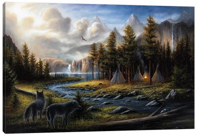 Wild America Canvas Art Print