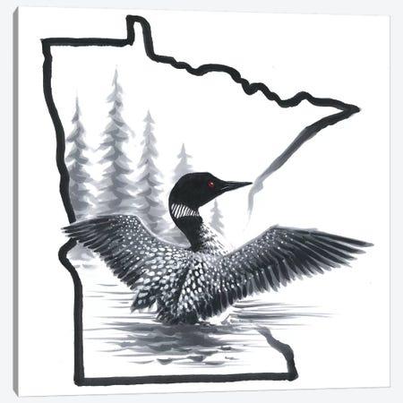 Minnesota Loon Canvas Print #CHB91} by Chuck Black Art Print