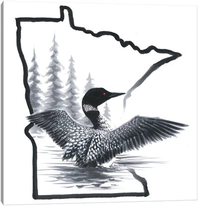 Minnesota Loon Canvas Art Print