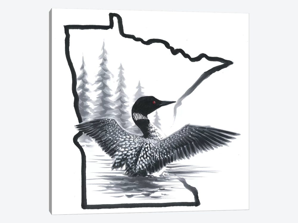 Minnesota Loon by Chuck Black 1-piece Art Print