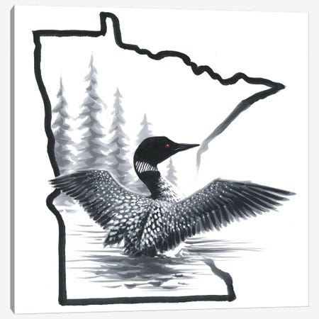 Minnesota Loon Canvas Print #CHB91} by Chuck Black Art Print