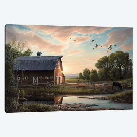 Returning Home 3-Piece Canvas #CHB94} by Chuck Black Canvas Art