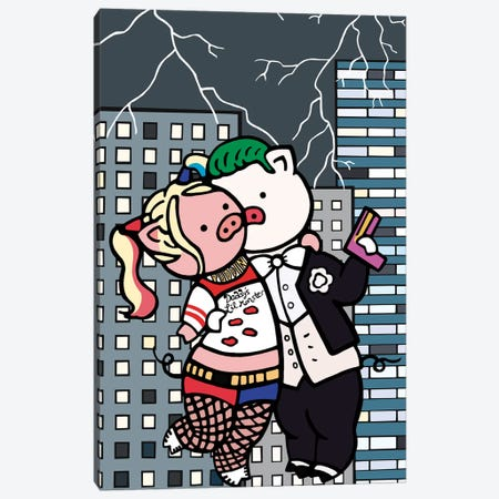 Harley And Joker Canvas Print #CHC19} by CHAN-CHAN Canvas Art