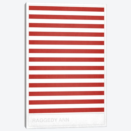 Red Striped Sock Canvas Print #CHD14} by 5by5collective Canvas Art