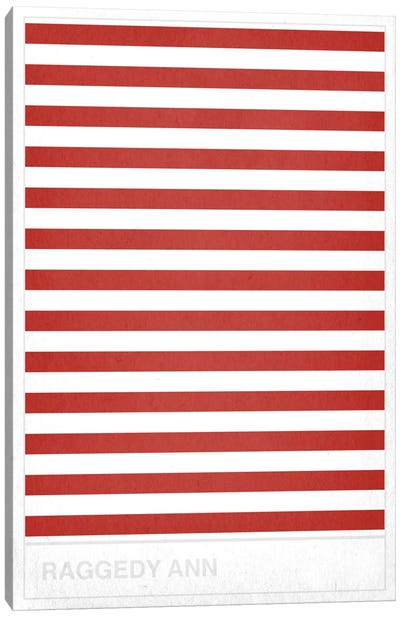 Red Striped Sock Canvas Art Print
