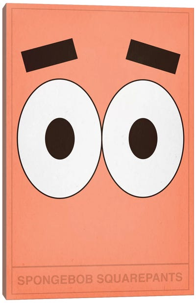 Patrick Star Canvas Art Print