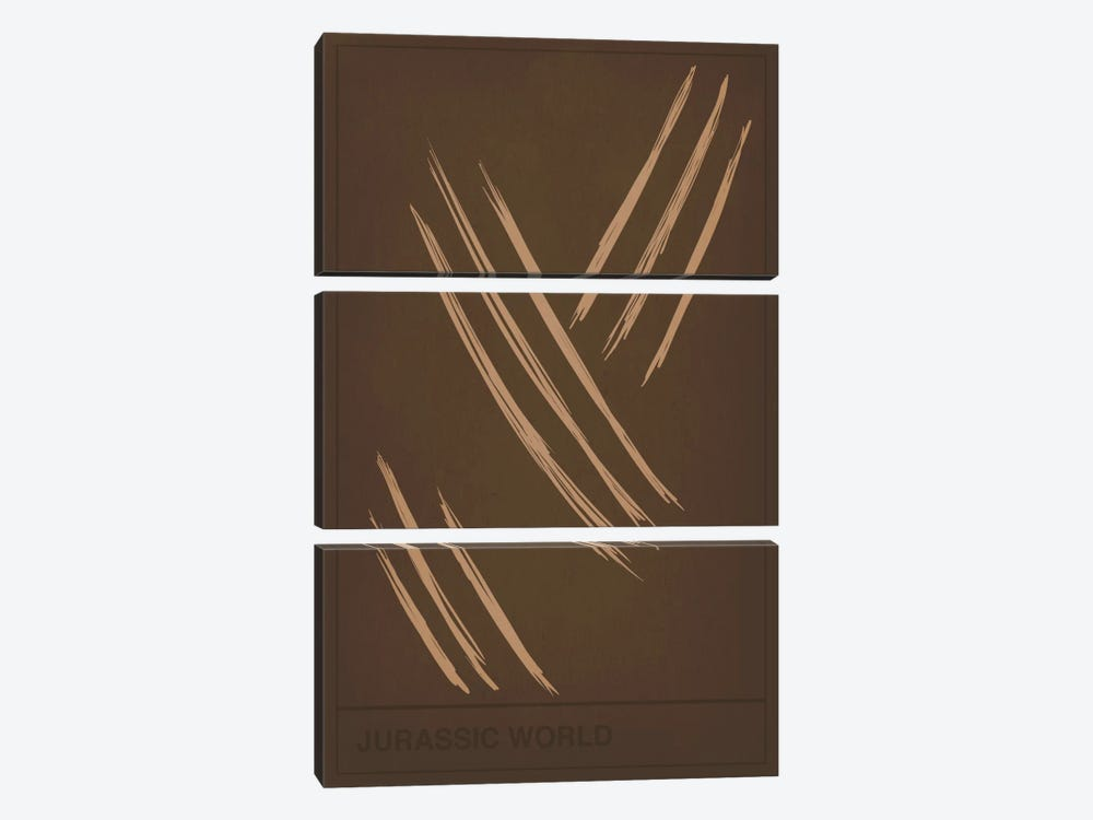 Dinasour Claw Marks by 5by5collective 3-piece Canvas Art