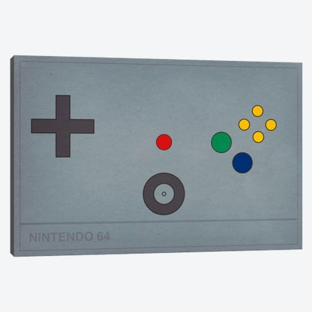 Nintendo 64 Canvas Print #CHD22} by 5by5collective Canvas Wall Art