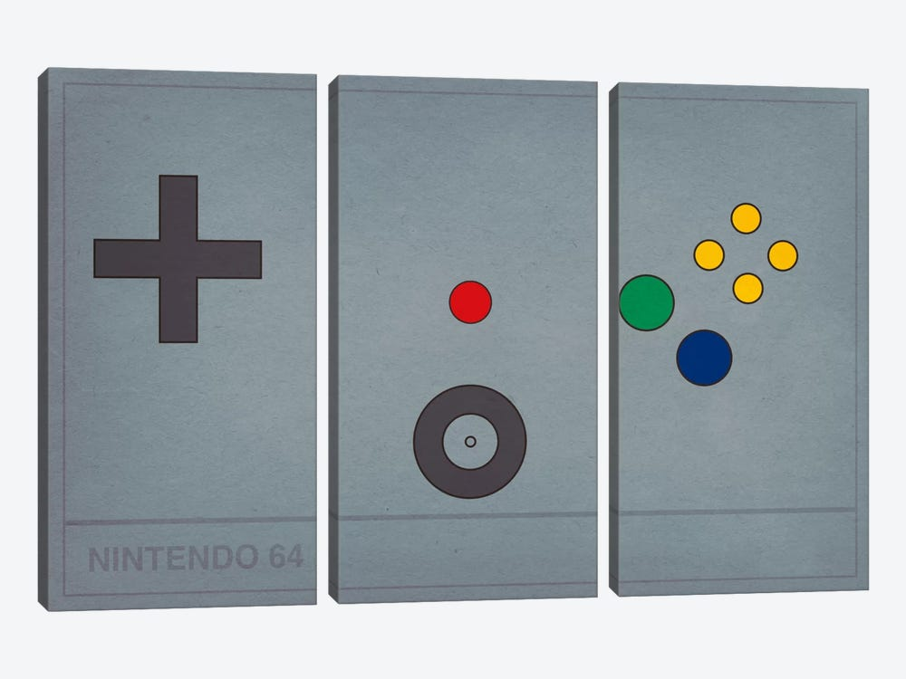 Nintendo 64 by 5by5collective 3-piece Art Print