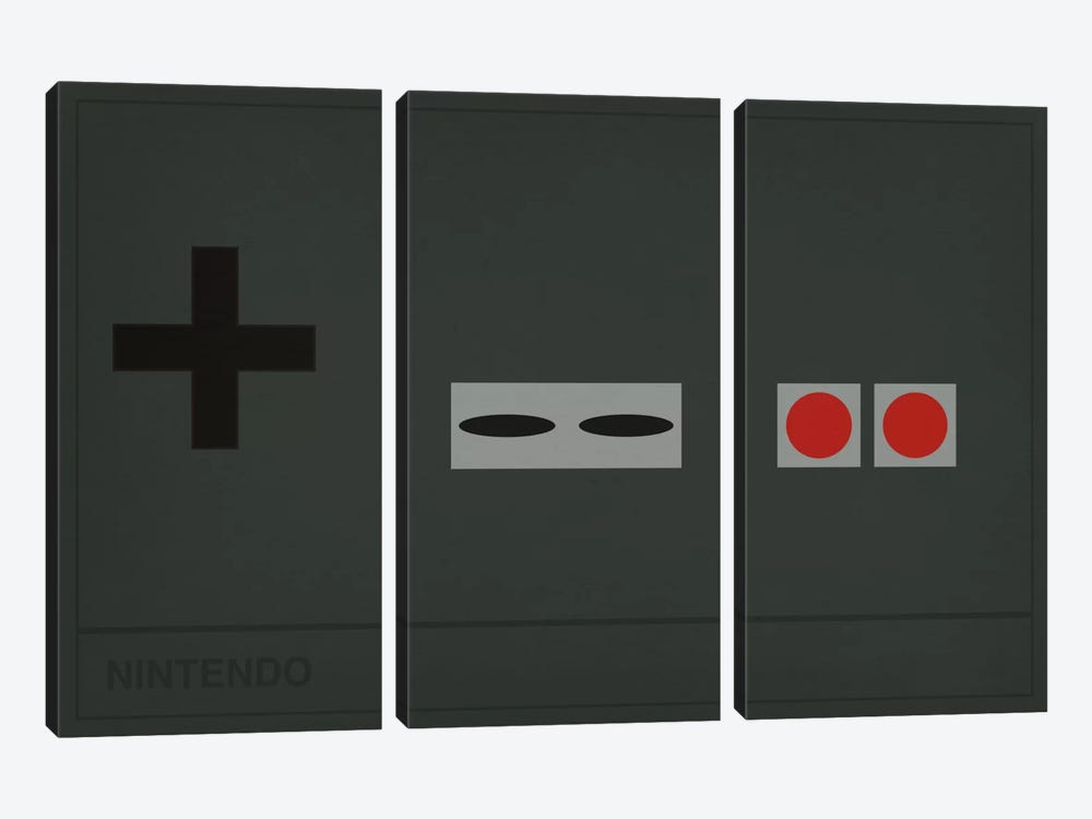 Nintendo by 5by5collective 3-piece Canvas Wall Art