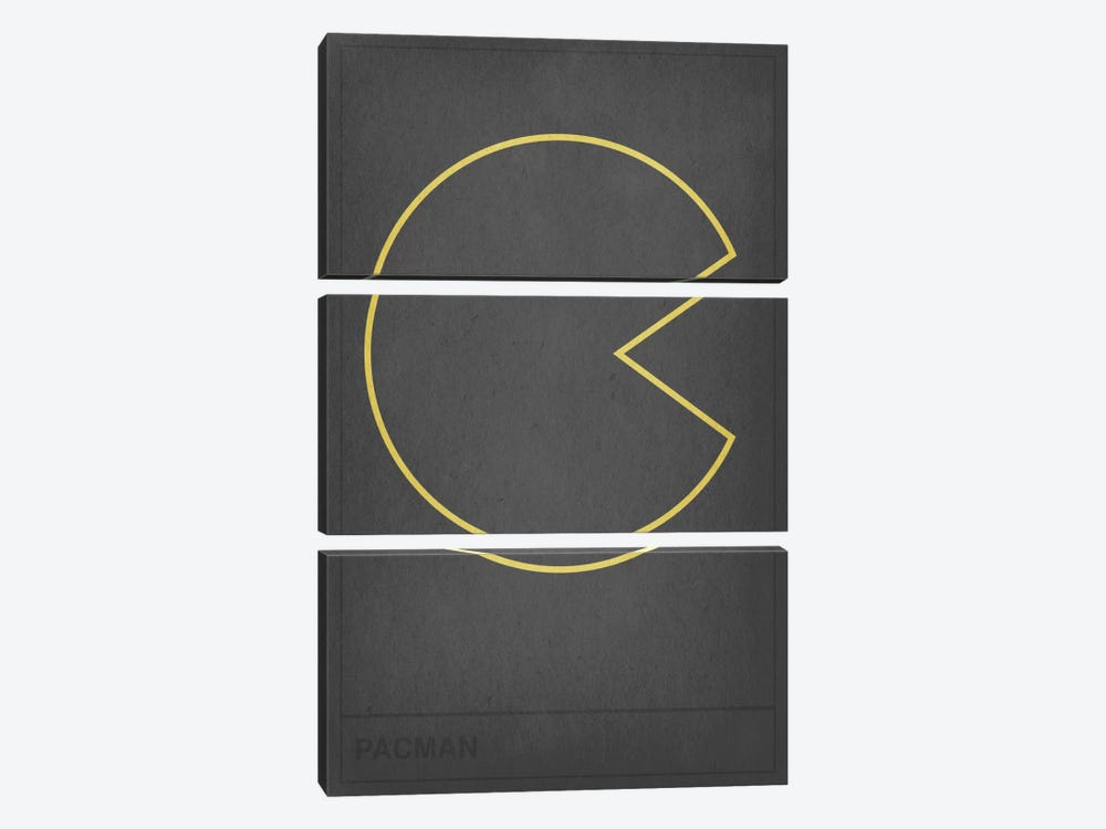 Pacman by 5by5collective 3-piece Canvas Print