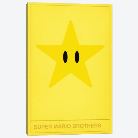 Super Mario Brothers Star Canvas Print #CHD29} by 5by5collective Canvas Wall Art