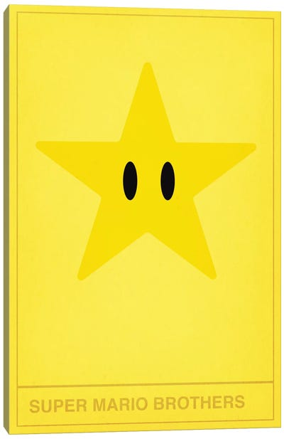Super Mario Brothers Star Canvas Art Print