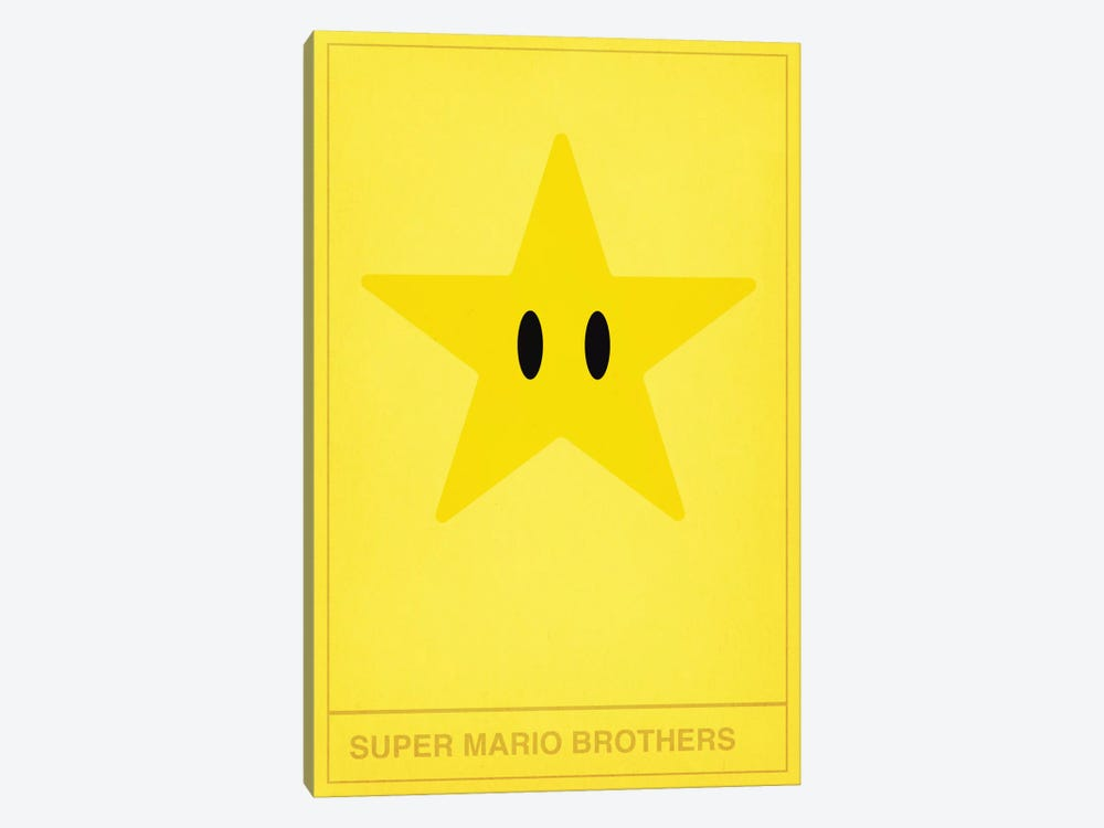 Super Mario Brothers Star by 5by5collective 1-piece Canvas Wall Art
