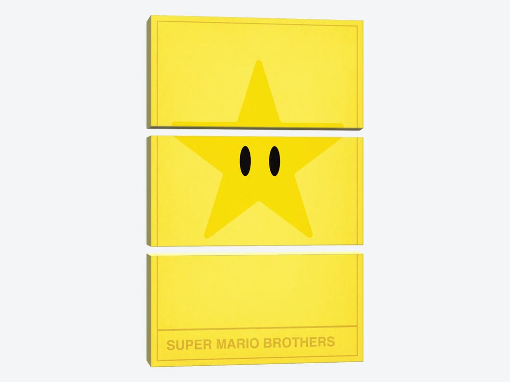 Super Mario Brothers Star by 5by5collective 3-piece Canvas Wall Art