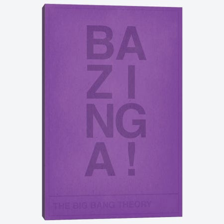 The Big Bang Theory Bazinga Canvas Print #CHD30} by 5by5collective Canvas Art Print