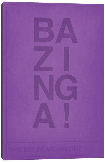 The Big Bang Theory Bazinga Canvas Print #CHD30