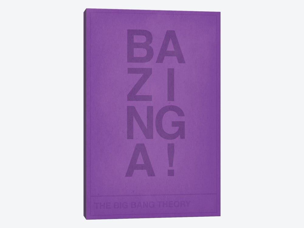 The Big Bang Theory Bazinga by 5by5collective 1-piece Canvas Wall Art