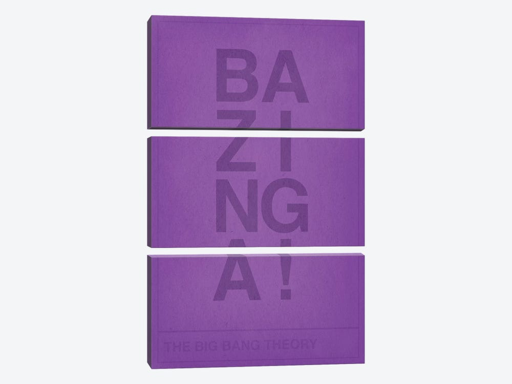 The Big Bang Theory Bazinga by 5by5collective 3-piece Canvas Artwork