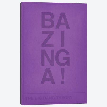 The Big Bang Theory Bazinga Canvas Print #CHD30} by 5by5collective Canvas Art Print