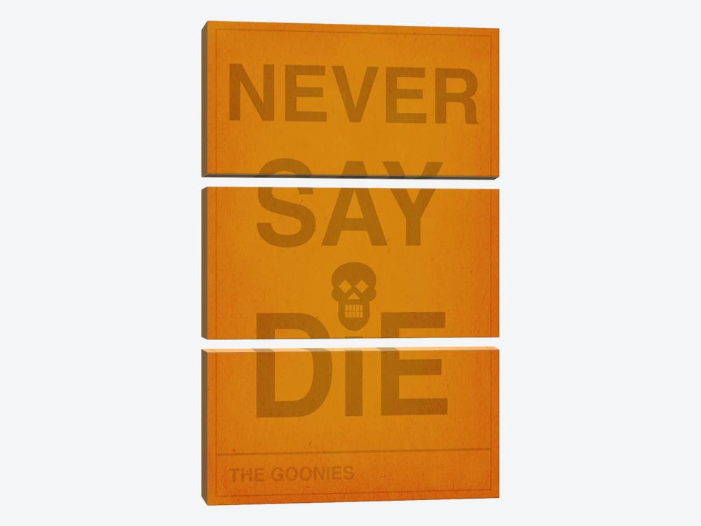 The Goonies Never Say Die by 5by5collective 3-piece Canvas Wall Art