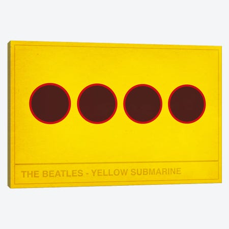 The Yellow Submarine Canvas Print #CHD33} by 5by5collective Art Print