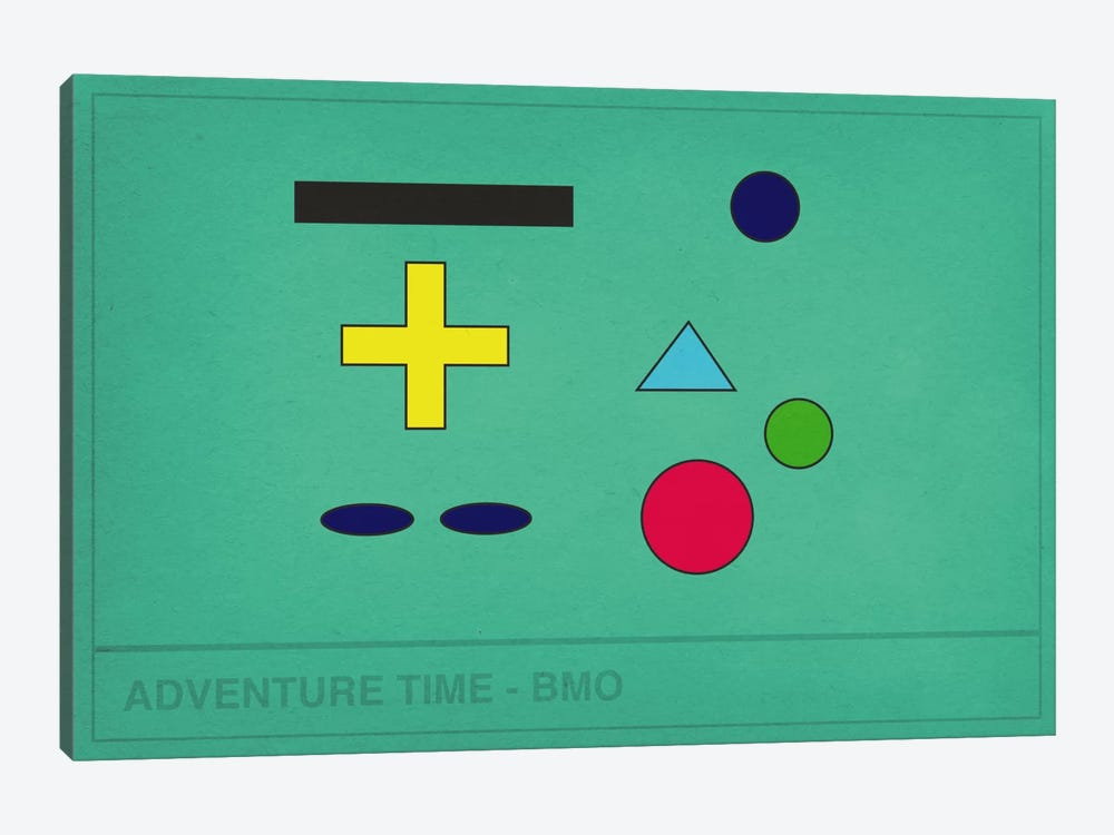 Adventure Time BMO by 5by5collective 1-piece Canvas Artwork