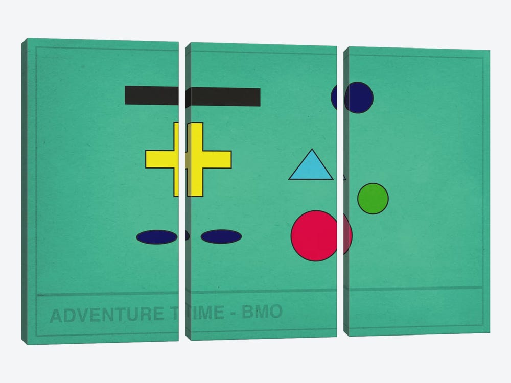Adventure Time BMO 3-piece Canvas Art
