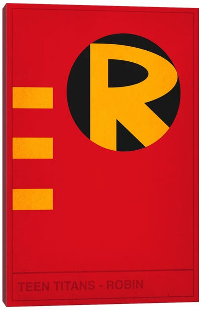 Teen Titans Robin Canvas Print #CHD37