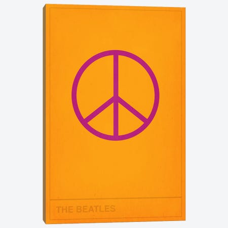 The Beatles Peace Out Canvas Print #CHD39} by 5by5collective Art Print