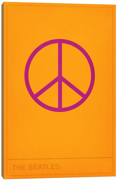 The Beatles Peace Out Canvas Art Print