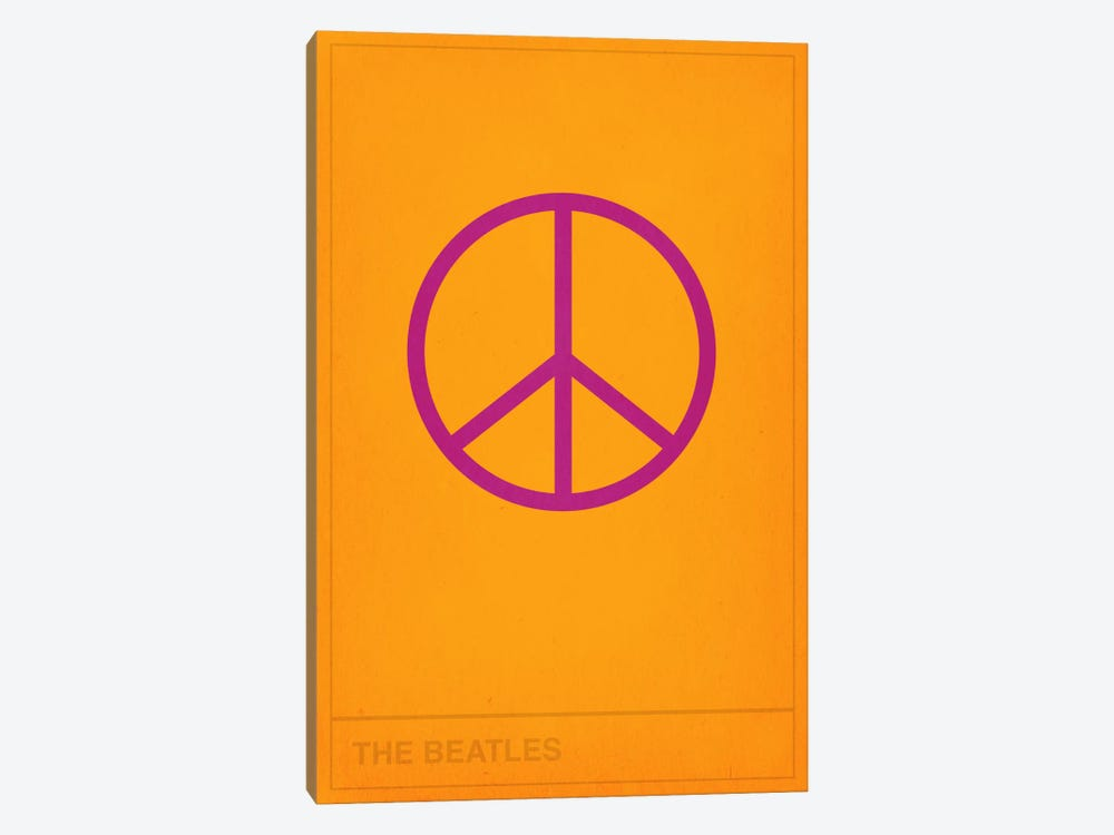 The Beatles Peace Out by 5by5collective 1-piece Canvas Art Print