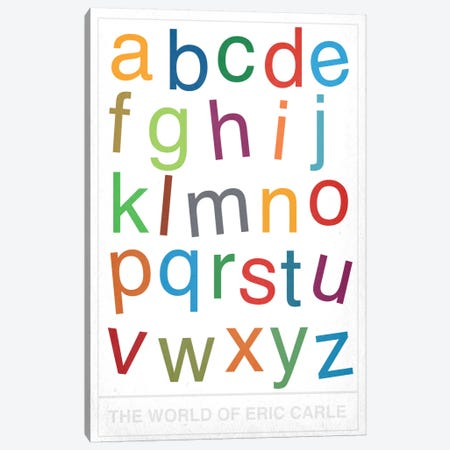 The World of Eric Carle Alphabet Canvas Print #CHD41} by 5by5collective Canvas Art