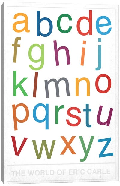 The World of Eric Carle Alphabet Canvas Art Print