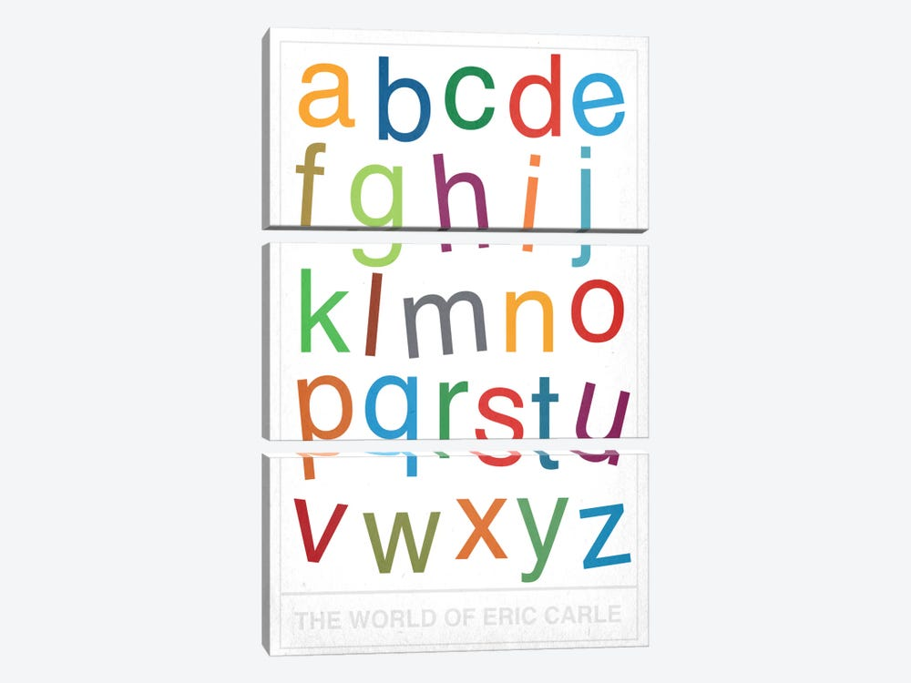 The World of Eric Carle Alphabet by 5by5collective 3-piece Canvas Art
