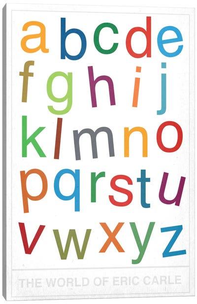 The World of Eric Carle Alphabet Canvas Art Print