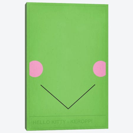 Hello Kitty Keroppi Canvas Print #CHD46} by 5by5collective Canvas Art Print