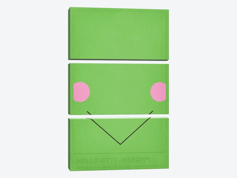 Hello Kitty Keroppi by 5by5collective 3-piece Canvas Print