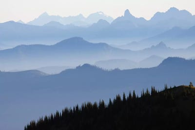 Foggy Mountain Landscape I Cascade Range Mount Ken